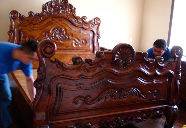 Hand Carved Custom Mesquite Bed
