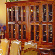 Colonial China Hutch with Glass Doors