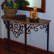 Wrought Iron Consoles